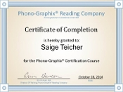 Online Phono-Graphix Certification Course - U.S.