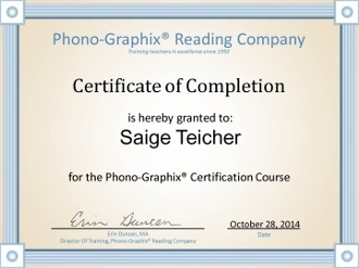 Online Phono-Graphix Certification Course - International